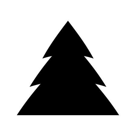 Christmas tree icon vector design Ilustrace
