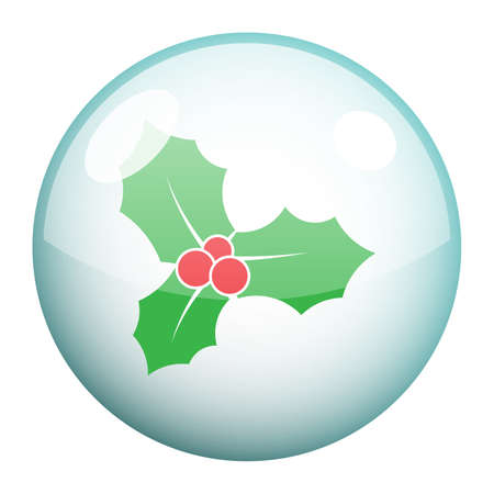 Mistletoe icon vector design. Holy berry icon isolated