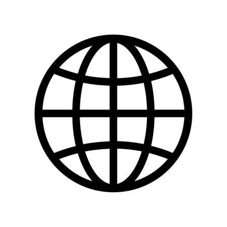 Globe icon vector design isolated on white background