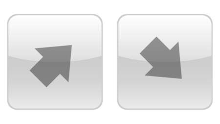 Diagonal arrows up and down icon vector design. Couple of icons united by one topic