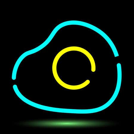 Egg neon icon. Food icons vector design