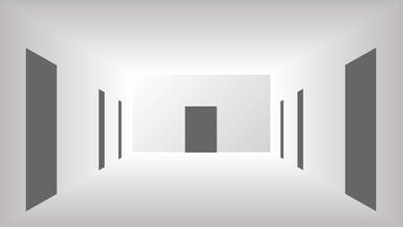 Corridor abstract illustration vector design.
