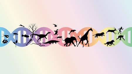 Conception de vecteur d'illustration abstraite d'évolution.