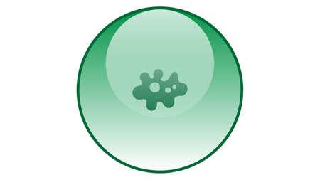 Micro organism icon vector design. Bacteria icon Vectores