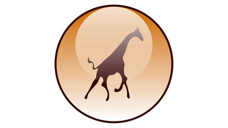 Giraffe icon vector design. Wildlife icons