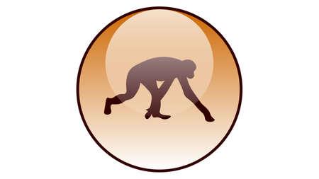 Monkey icon vector design. Wildlife icons Çizim