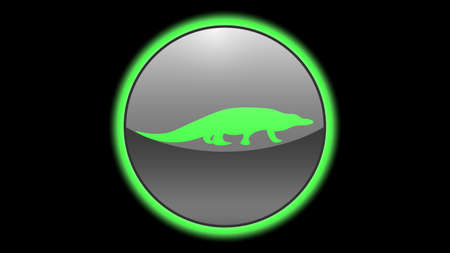 Crocodile icon vector design. Green neon icons with animals. Animals icons vector.