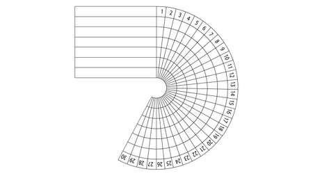 Rastreador de hábitos diarios durante 30 días de diseño vectorial Ilustración de vector