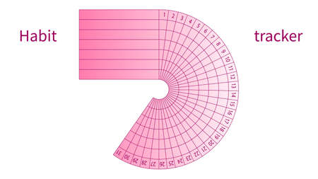 Suivi des habitudes quotidiennes pour la conception vectorielle de 31 jours
