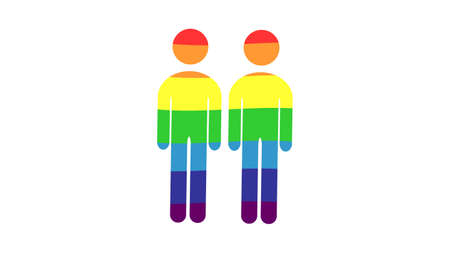 Gender icon vector design. Sexual identity communities symbols