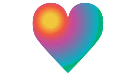 Heart icon vector design. Sexual identity communities symbols