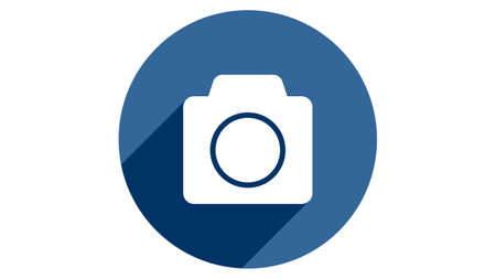 Camera icon vector design. Simple stylish icons with shadow