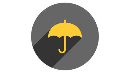 Umbrella icon vector design. Simple stylish icons with shadow