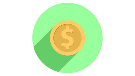 Money icon vector design. Simple stylish icons with shadow
