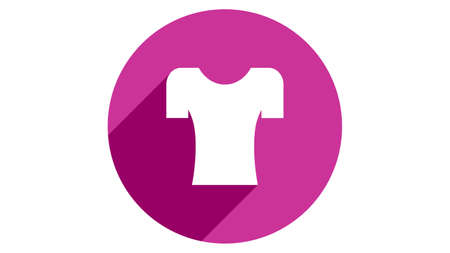 T-shirt icon vector design. Simple stylish icons with shadow