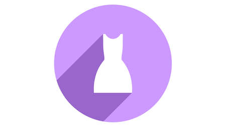 Dress icon vector design. Simple stylish icons with shadow