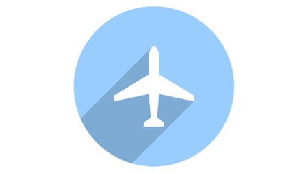 Plane icon vector design. Simple stylish icons with shadow
