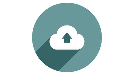 Storage cloud icon vector design. Simple stylish icons with shadow