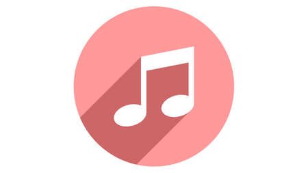 Music icon vector design. Simple stylish icons with shadow