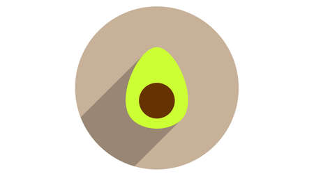 Avocado icon vector design. Simple stylish icons with shadow