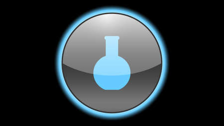 Flask icon vector design. Science icons Illusztráció