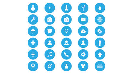 Set of icons vector design. Different icons collection Illusztráció