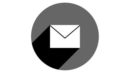 Envelope icon. Flat icons vector design. Simple icons with shadows