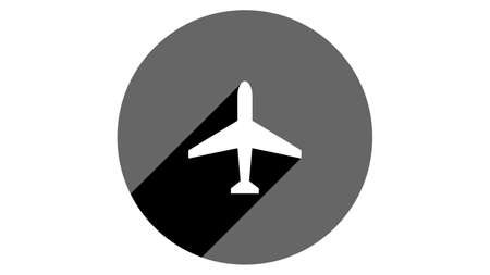 Plane icon. Flat icons vector design. Simple icons with shadows