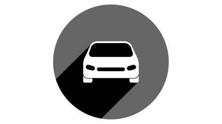 Car icon. Flat icons vector design. Simple icons with shadows Illusztráció