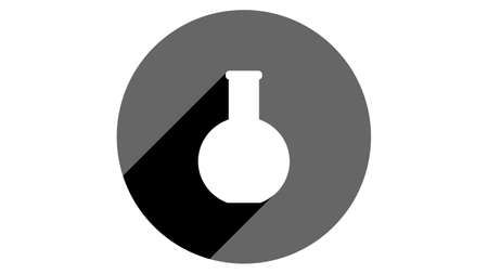 Flask icon. Flat icons vector design. Simple icons with shadows Illusztráció