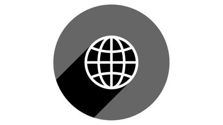 Globe icon. Flat icons vector design. Simple icons with shadows