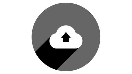 Storage icon, upload icon, cloud icon. Flat icons vector design. Simple icons with shadows