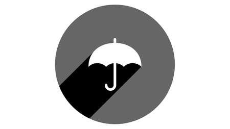 Umbrella icon. Flat icons vector design. Simple icons with shadows