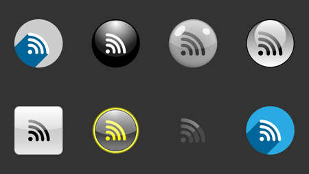 WiFi icins collection, set of icons vector design. Different icon designs