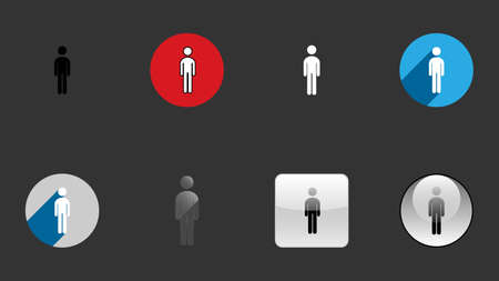 Man icons collection, set of icons vector design. Different icon designs
