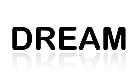 Dream word vector design. Dream word isolated Illusztráció