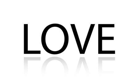 Love word vector design. Love word isolated Illusztráció