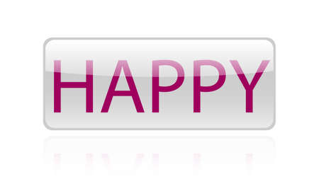 Happy word vector design. Happy word isolated