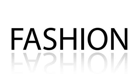 Fashion word vector design. Fashion word isolated