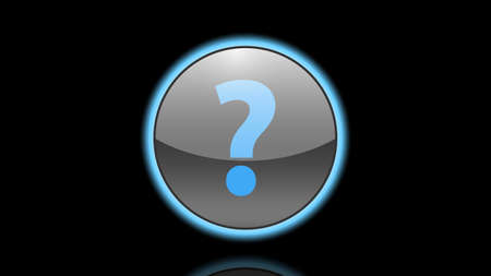 Question mark button vector design Illusztráció