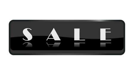 Sale banner isolated on white background vector design Illusztráció