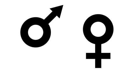 Gender symbol icon. Feminism vector elements. Feminism banner design