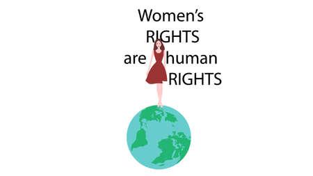 Feminism banner vector design.