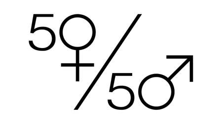 Feminism vector elements. Feminism banner design