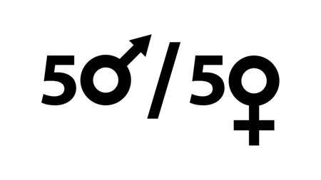 Gender equality. Feminism vector elements. Feminism banner design