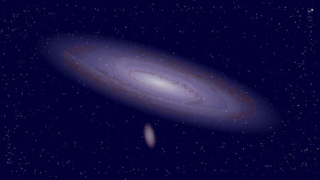 The vector illustration of an Andromeda galaxy - the nearest major galaxy to the Milky Way