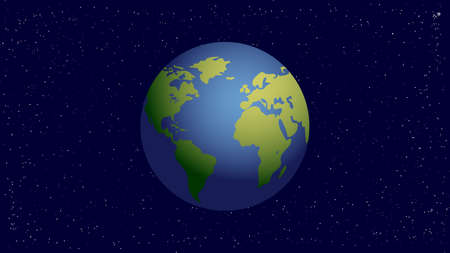 Vector model of Planet Earth on the dark background