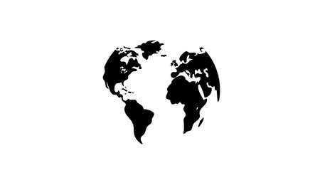 Earth continents icon vector design