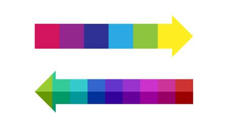 Color blocked arrow, timeline vector