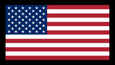 National flag of USA,10:19 proportion. The basic design of the current USA flag